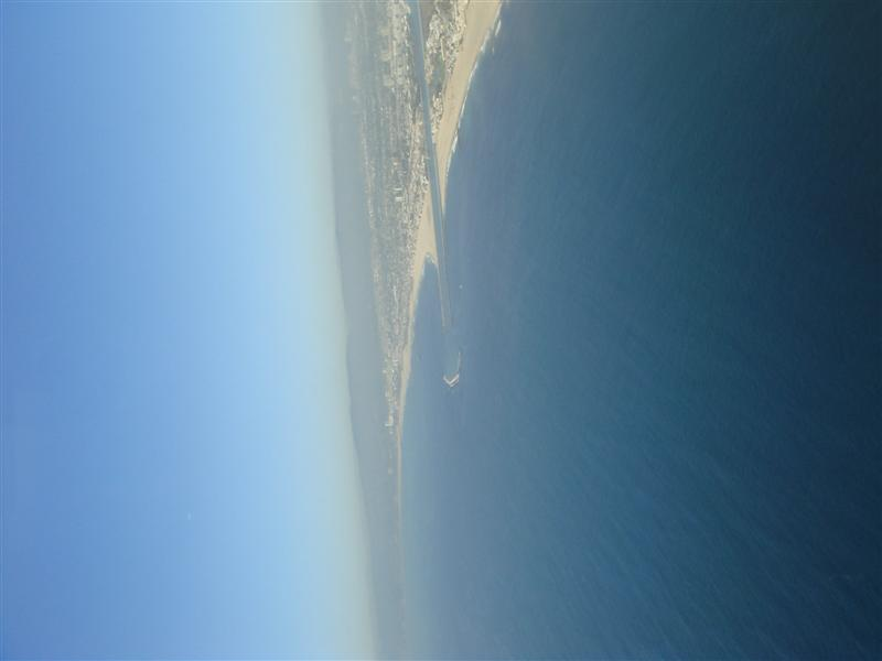 View from the plane over L.A. (sideways)
