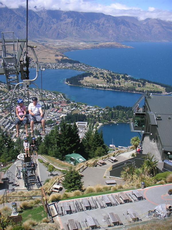 Chairlift up to the Luge