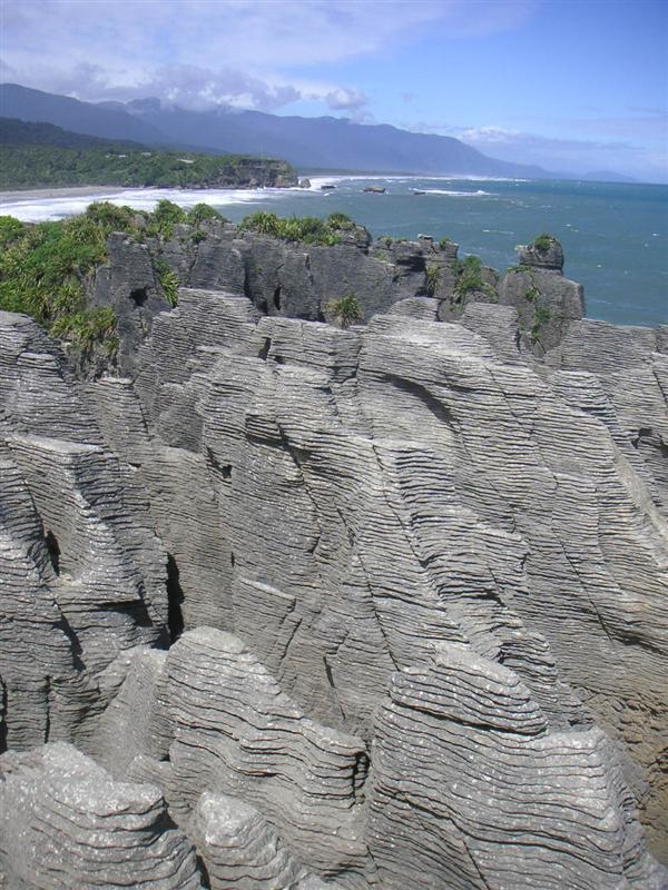 Pancake rocks on way from Franz Josef to Nelson