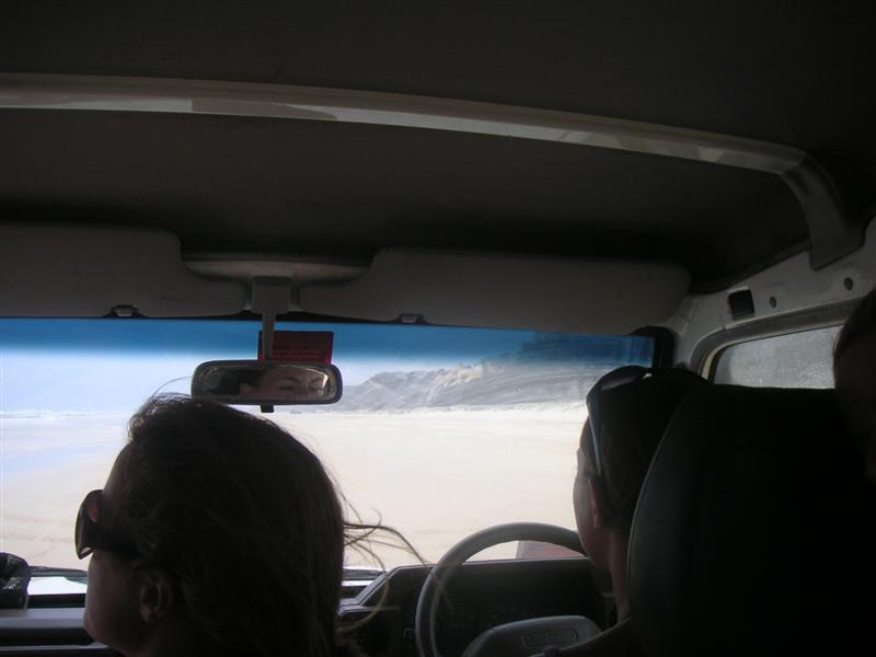 Driving along the beach = cooooooool