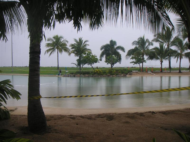 Airlee Beach - the lagoon which was closed due to flooding boooo!