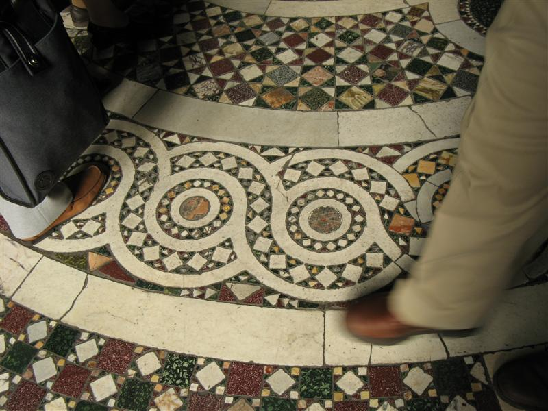 the FLOOR of the vatican. and its not painted.