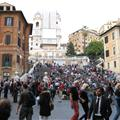 View of Spanish Steps from Dior doorman´s perspective
