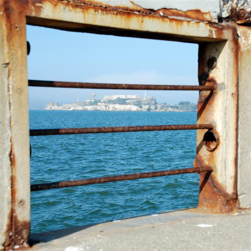 Alcatraz through a peephole