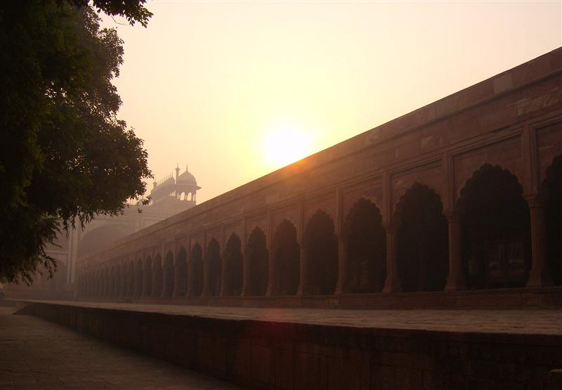 Sun over Taj Walls