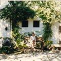 Miren at garden of old house