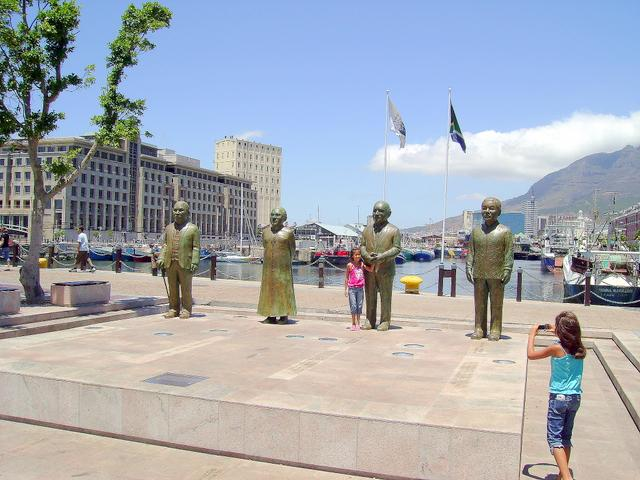 V&A Waterfront - statues of Nobel Laureates