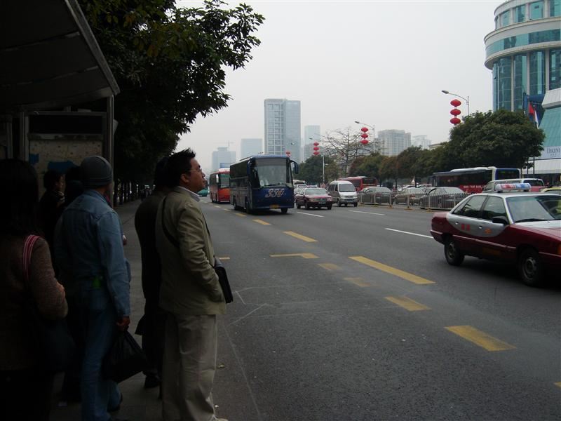 People Waiting at the bus stop