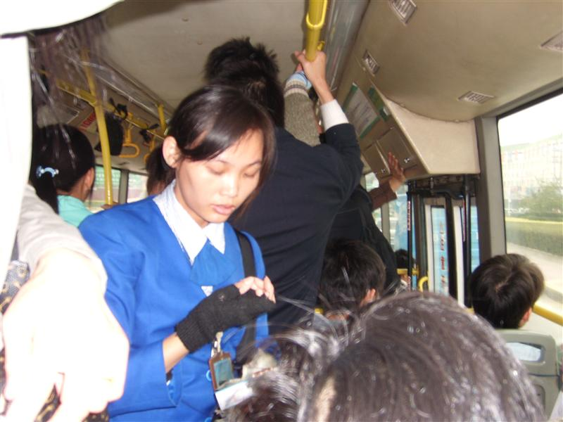 Bus's Ticket seller in bus # 130 to Shiyan