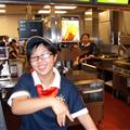 The cashier of Macdonald  Near my home .
