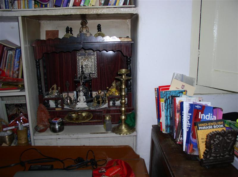 Sunita's mim-shrine in our room