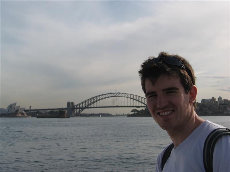 Ollie in front of the Harbour Bridge