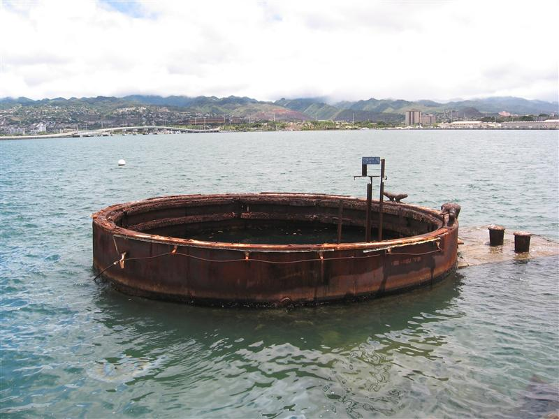 View from the USS Arizona Memorial, Pearl Harbor
