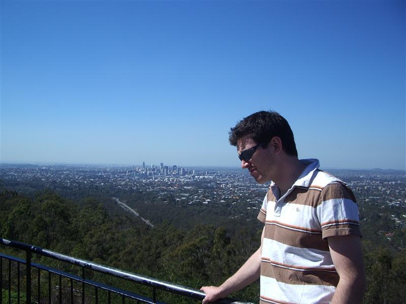 Ollie looking bored beside Brisbane