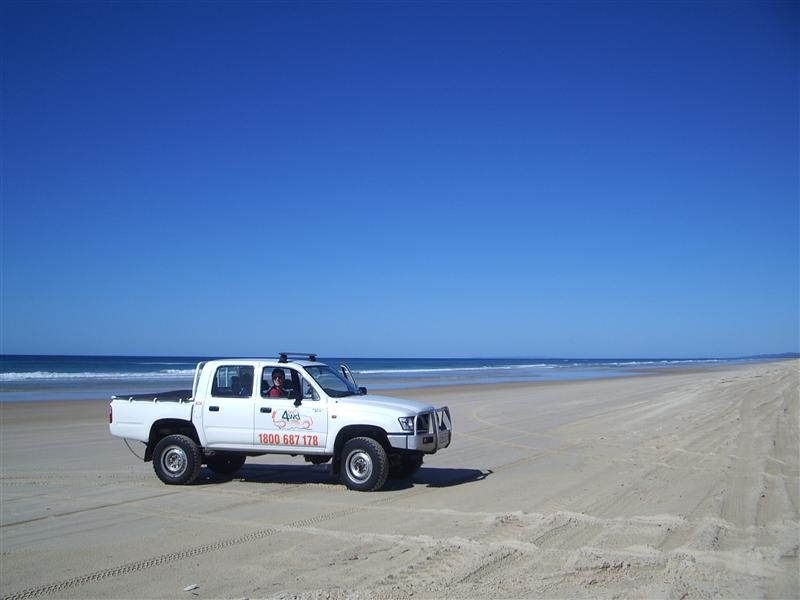 The 4WD, Trevor, taking a break from all his hard work