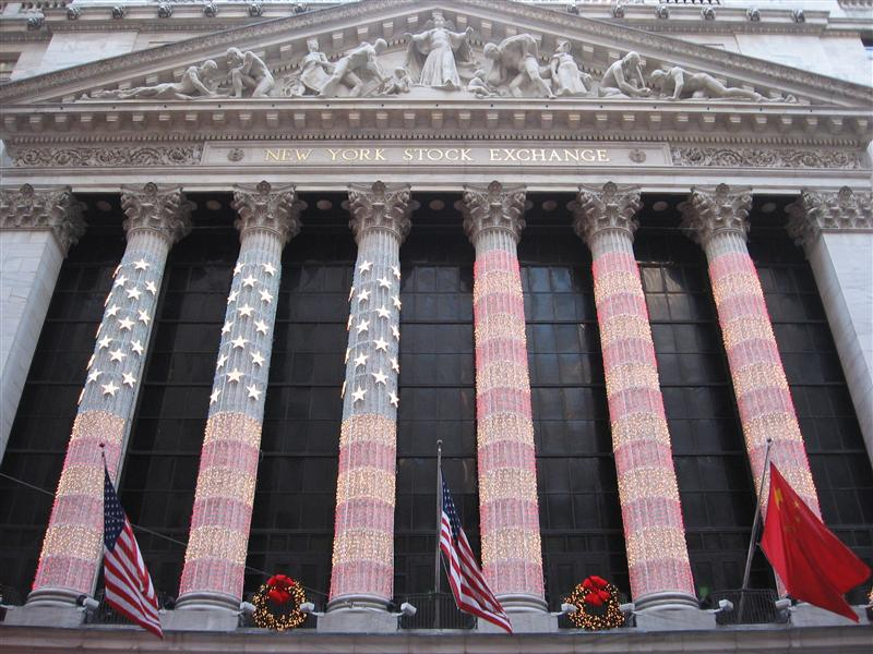 The Stock Exchange gets into the patriotic Christmas spirit