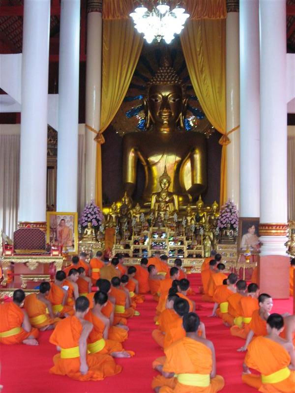 Monks having a chant