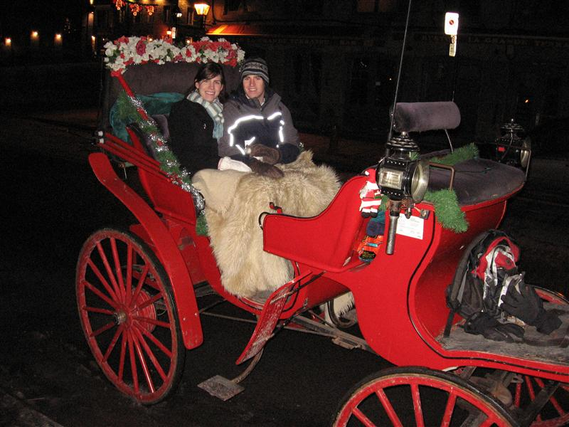 Me and Angela in a carriage going around Montreal