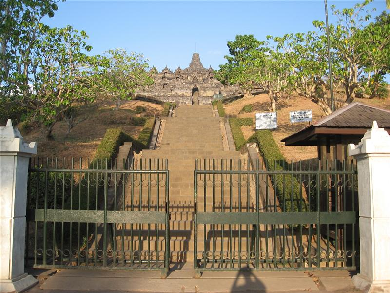 Steps leading up to Borobudur