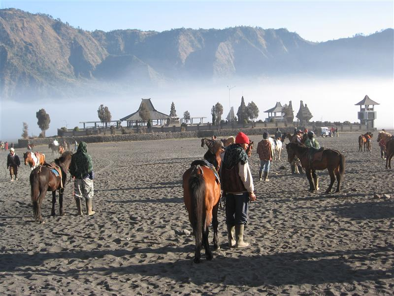 Temple at the base of Bromo