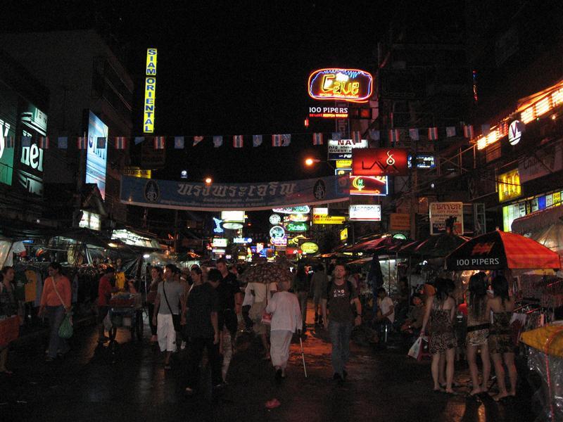 Koah San Road in Bangkok