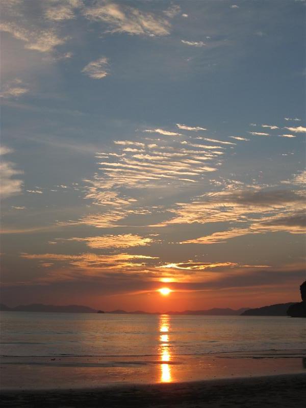 Sunset on West Beach, Railay