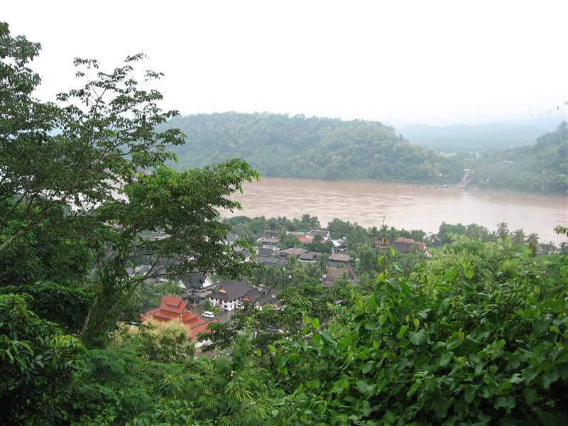 View from the top of Phouset Hill - the Mekong side