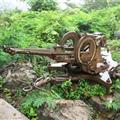 Gun at the top of Phouset Hill