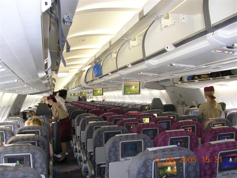 Inside Qatar Airways to Doha - Blogabond