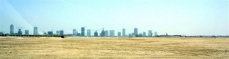 City behind the desert