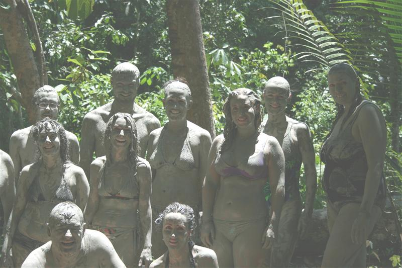The invisible people! Clay baths prior to ayahuasca ceremonies