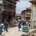 The wide tibetan streets