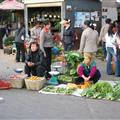 Locals selling there greens