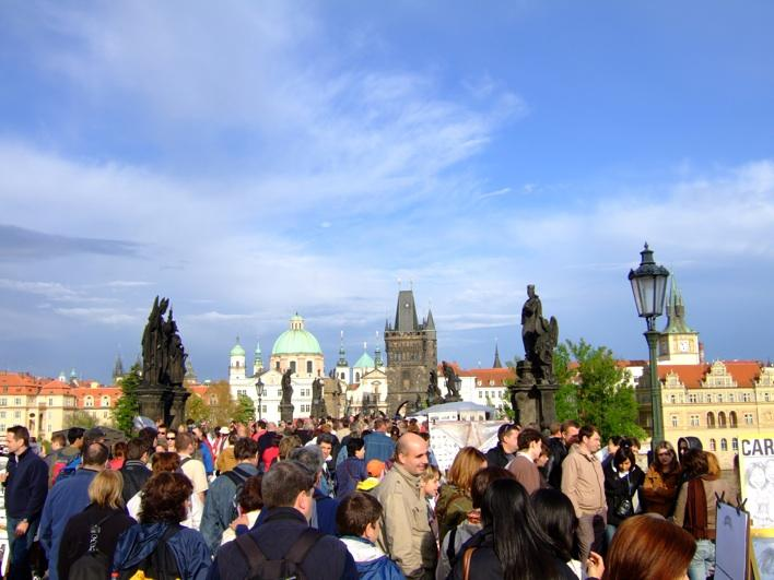 on Charles Bridge - it was F***ING crowded!!!