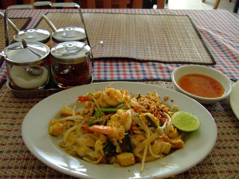 PhadThai in a homely style thai restaurant