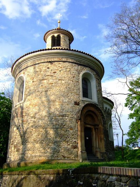 Rotunda of St. Martin at Vys?ehrad - a little chaple/church