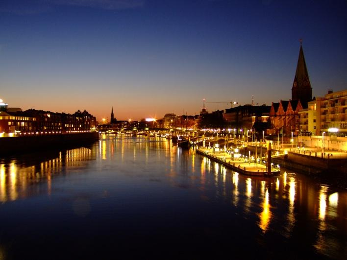 night view at River Weser