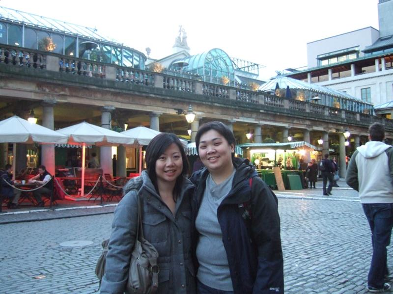 Katherain & me in front of Covent Garden Market