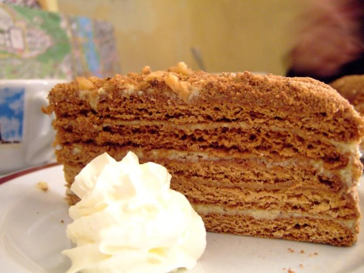 Honey Cake - a famous cake in Czech Republic