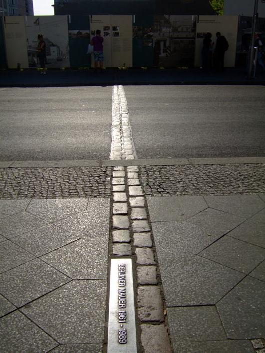 marking of the Berlin Wall's location