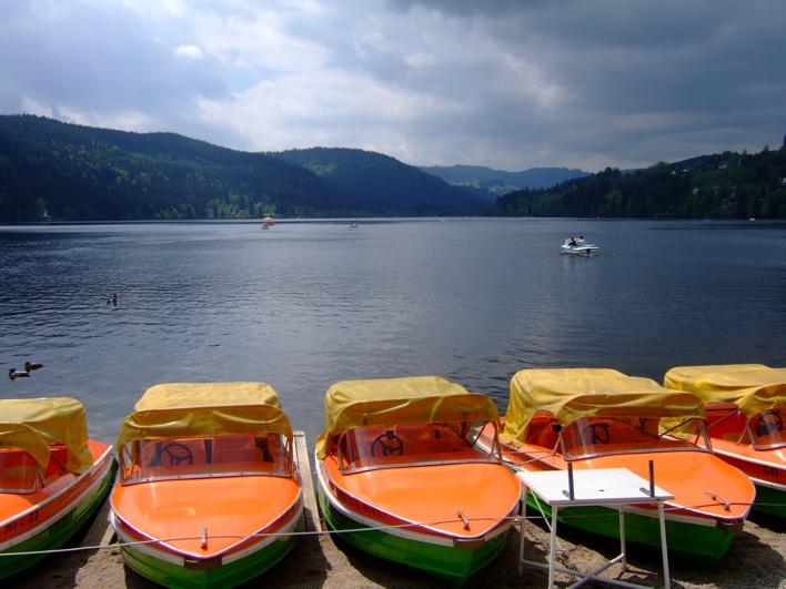 pedal boats at Titisee