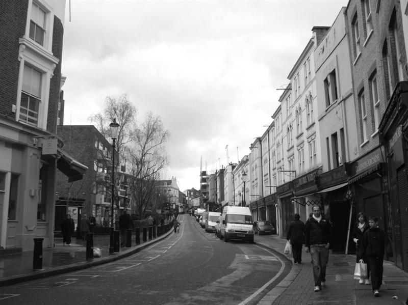 Streets leading to Portobello Market