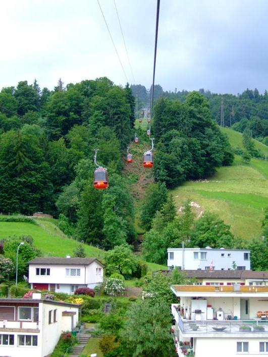 up up n away - cable car that takes u to top of Mt Pilatus