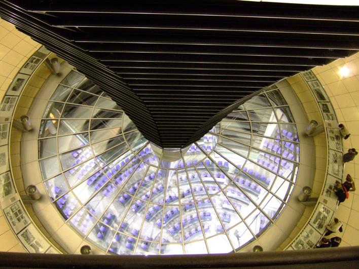 inside view of Reichstag - parliment building