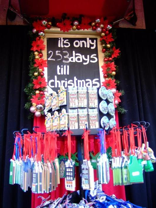 The Christmas Shop - it sells all things Xmas through the year!