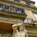 a statue in 1 of d gardens in Aix-en-Provence, he looks like he has a headache from d balcony on its head.
