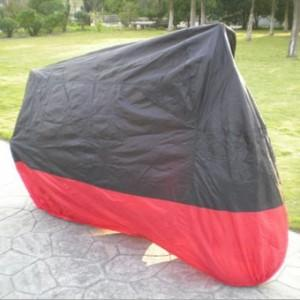 black and red motorcycle covers on the trip