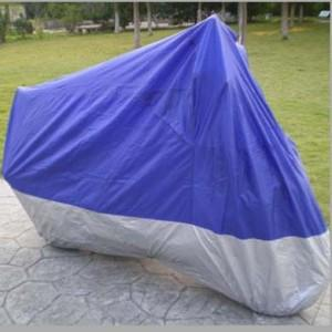 Blue Motorcycle covers on the trip