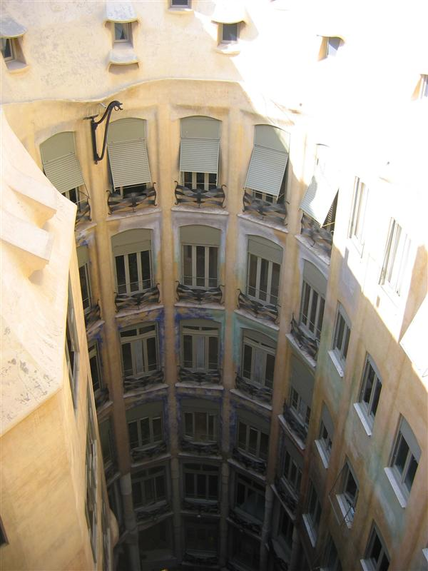 Interior courtyard of Casa Mila