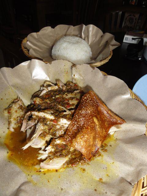 Dans fave Balinese dish - Ibu Oka, Suckling Pig